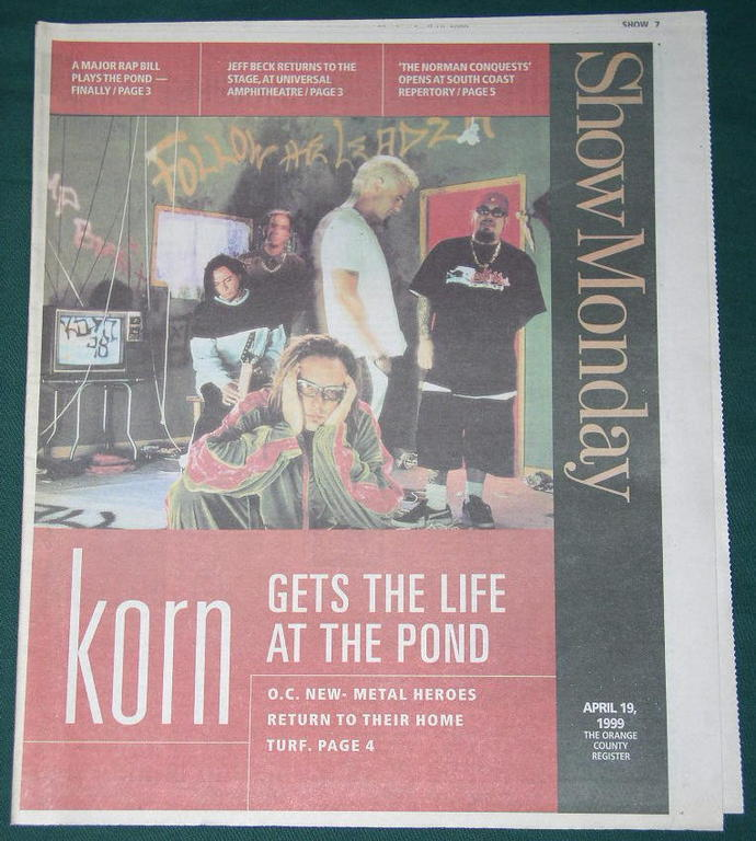 "19 apr 1999 ""Show"" newspaper supplement"