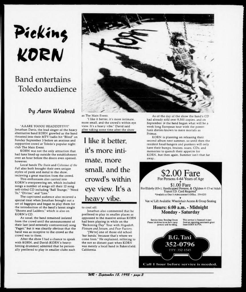 The BG News September 15 1995