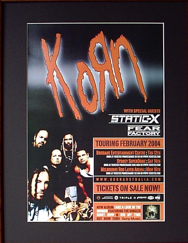 Australia 2004 Tour Poster