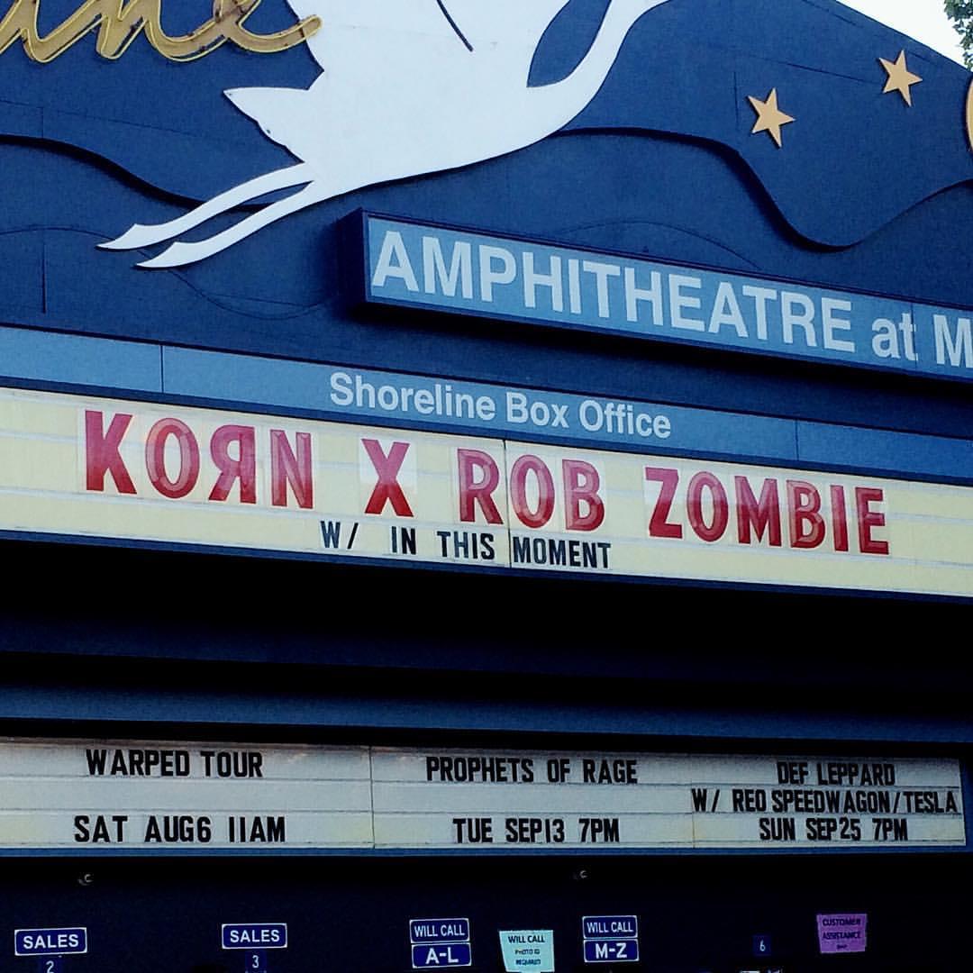 KoRn 2016-07-29 Shoreline Amphitheatre, Mountain View, CA, USA